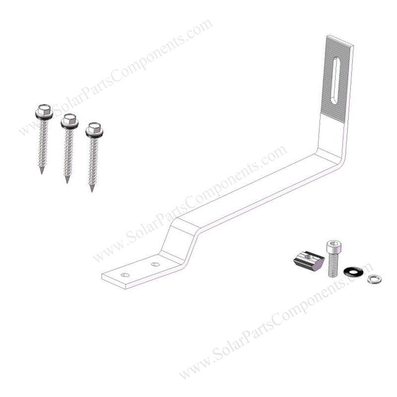 flat tile roof solar mount hooks sizes