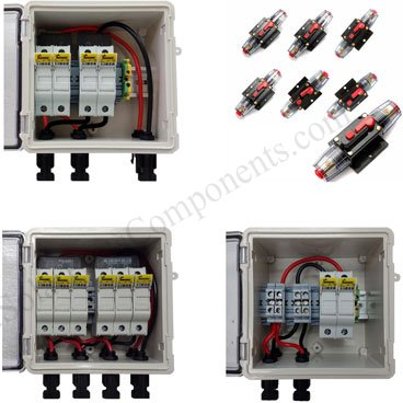 solar power fuses and breakers