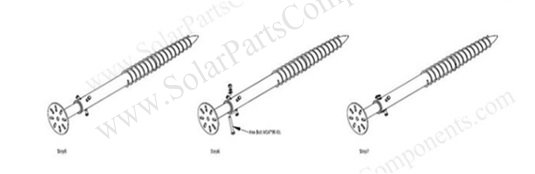 Solar screws A50 for ground mounting structure