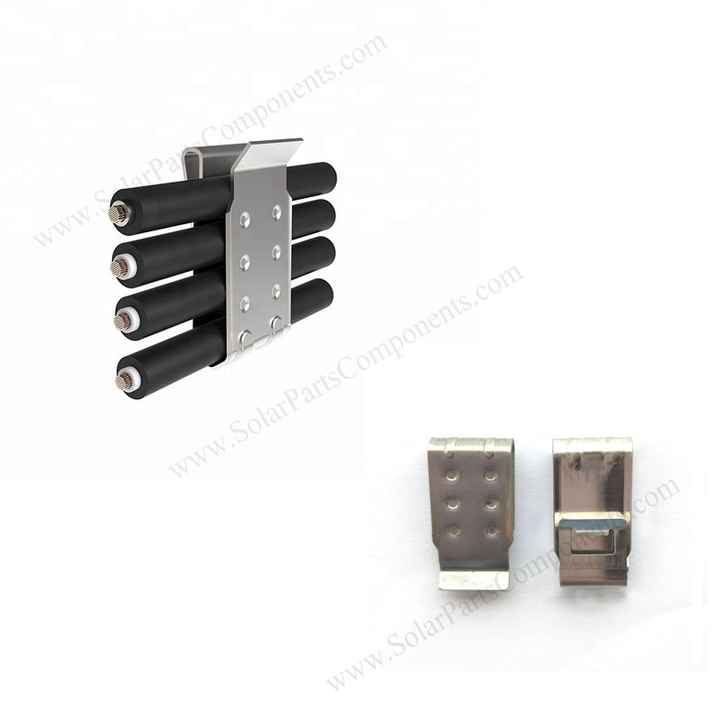 Four Lines Solar Cable Clips For Solar Panel Mounting