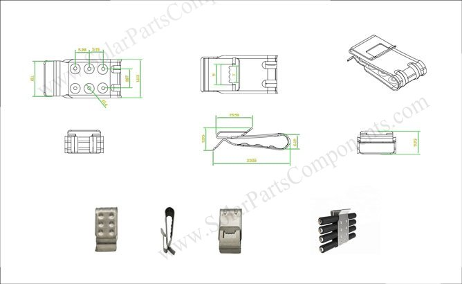 solar cable clips 4 lines