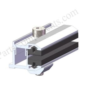 frame less solar panel end clamps profile