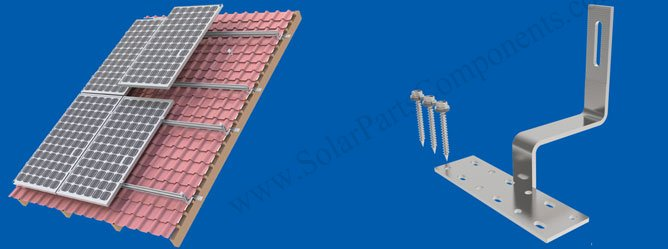 solar panel curved tile roof hooks