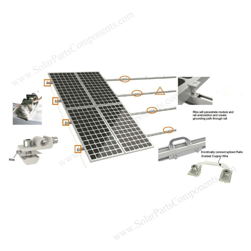 pv electrical ground clips  earthing plates  grounding