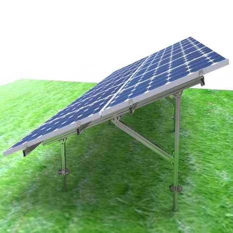 carbon steel solar ground mounting system