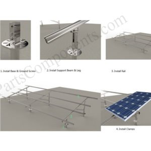 carbon steel solar ground mounting system installation