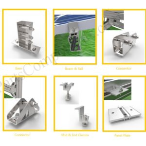 carbon steel solar ground mounting system components