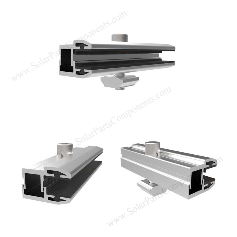 Thin film solar panel end clamps