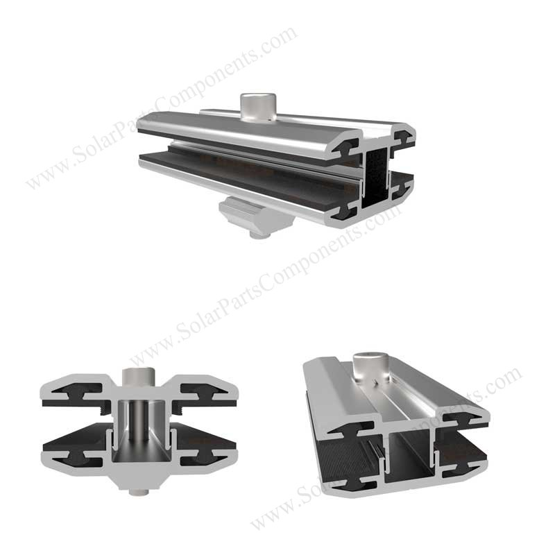 Thin film solar panel mid clamps
