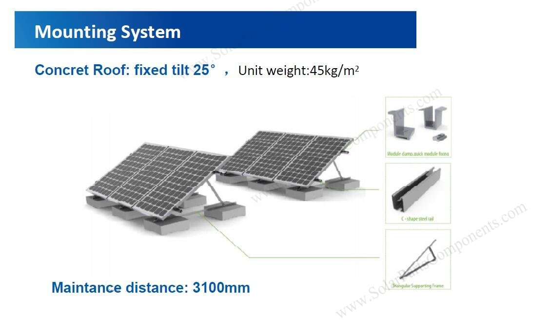 triangle tilt solar mounting system concrete base