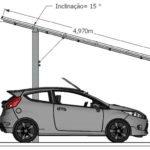 Solar carport system aluminum 13 KW Brazil