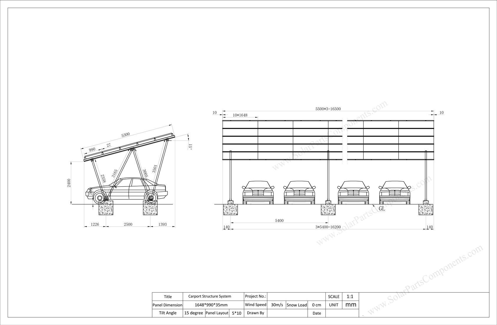 solar carport system design