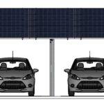 PV module carport system aluminum 13 KW