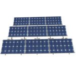 ballasted flat roof solar racking
