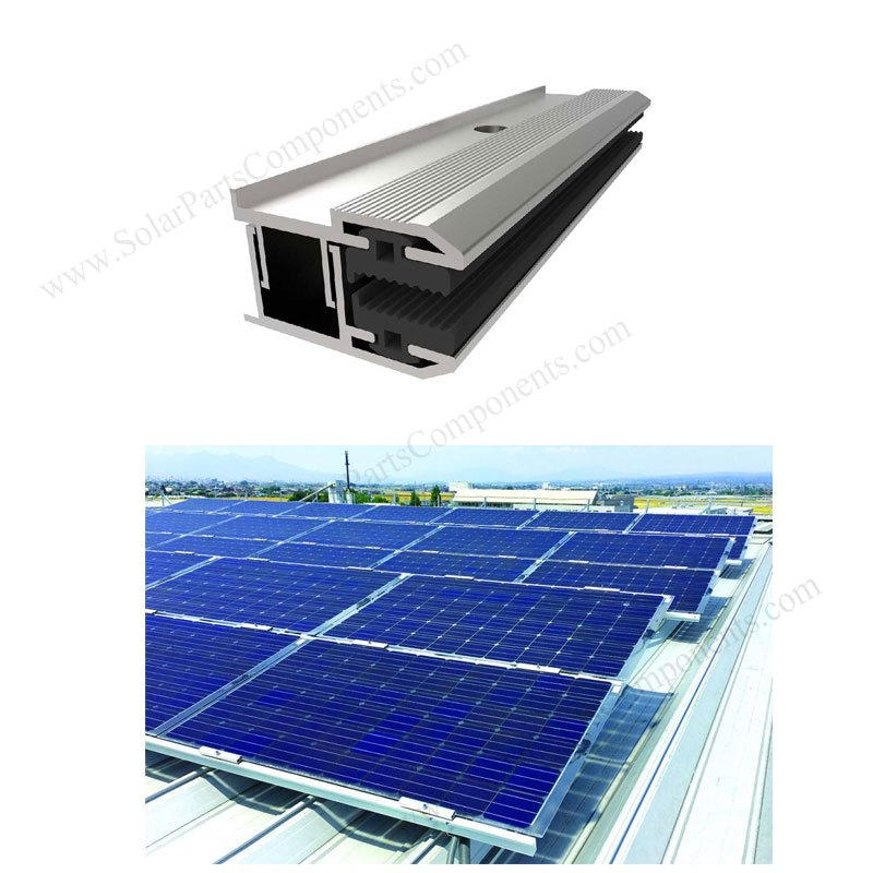 Frameless PV module end clamps for thin film pv modules