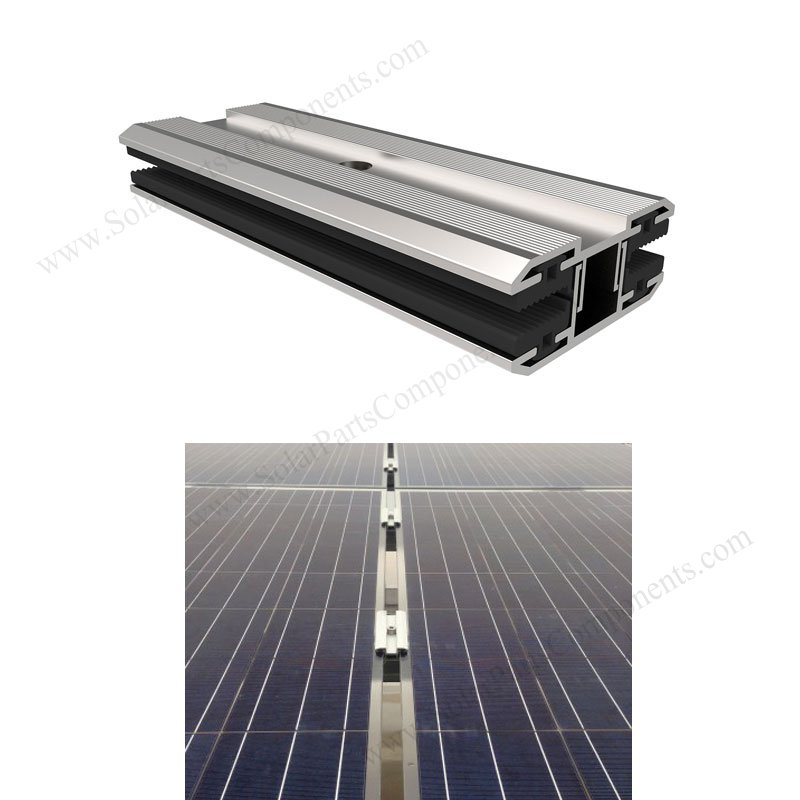 Frameless PV module mid clamps for thin film pv modules
