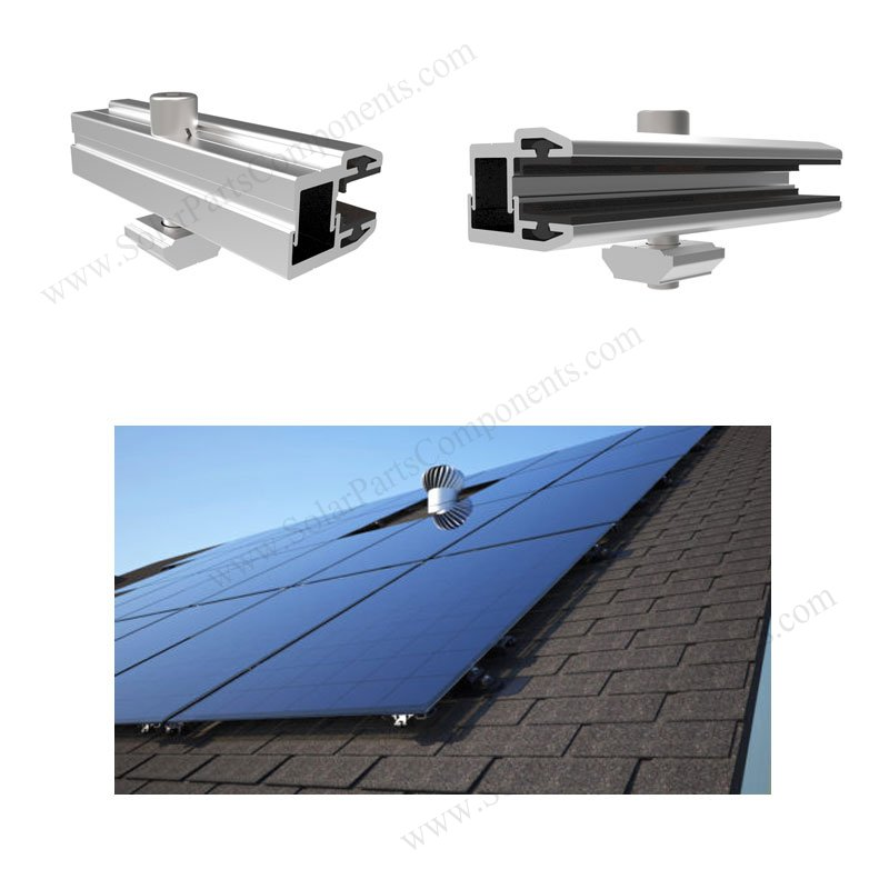 Frameless PV modules With End Clamps for Composition Shingle