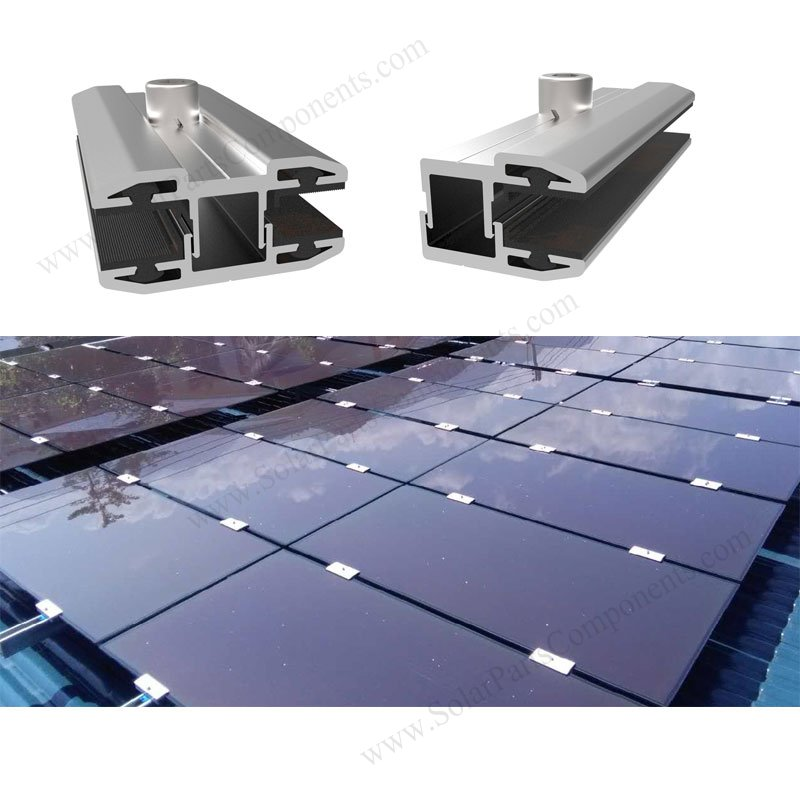 Frameless solar panel mounting solution