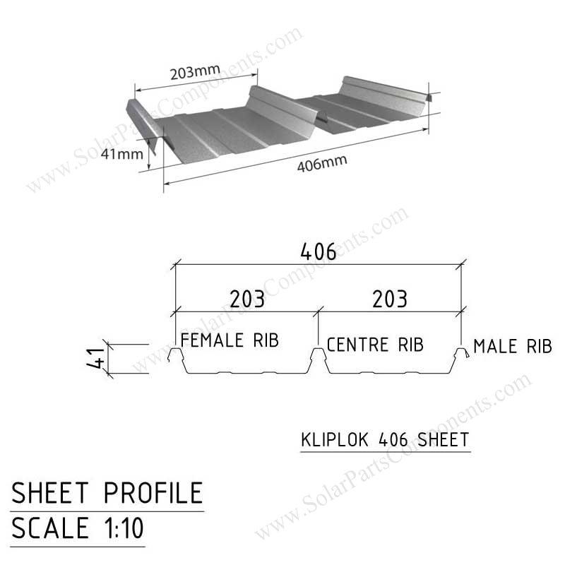 Klip-Lok 406 clamps for Lysaght profile