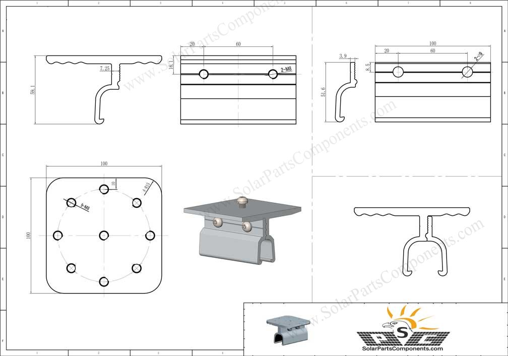 klip lok iron roof pv clamp sizes