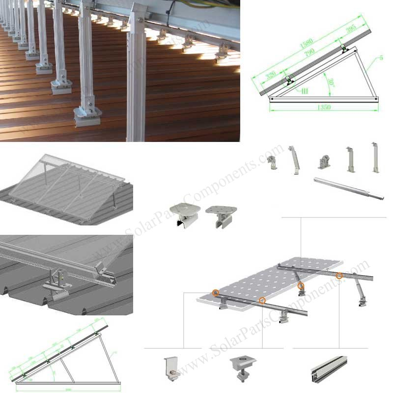 Solar Stand Seam Metal Roofing Clamps Spc 004