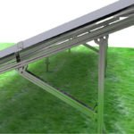 galvanized ground mounting system- A type