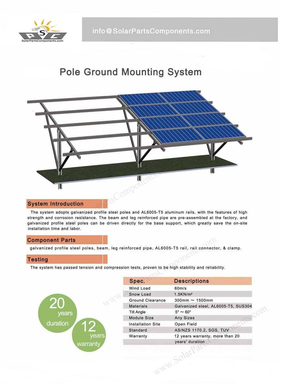 aluminum pillar ground mounting system