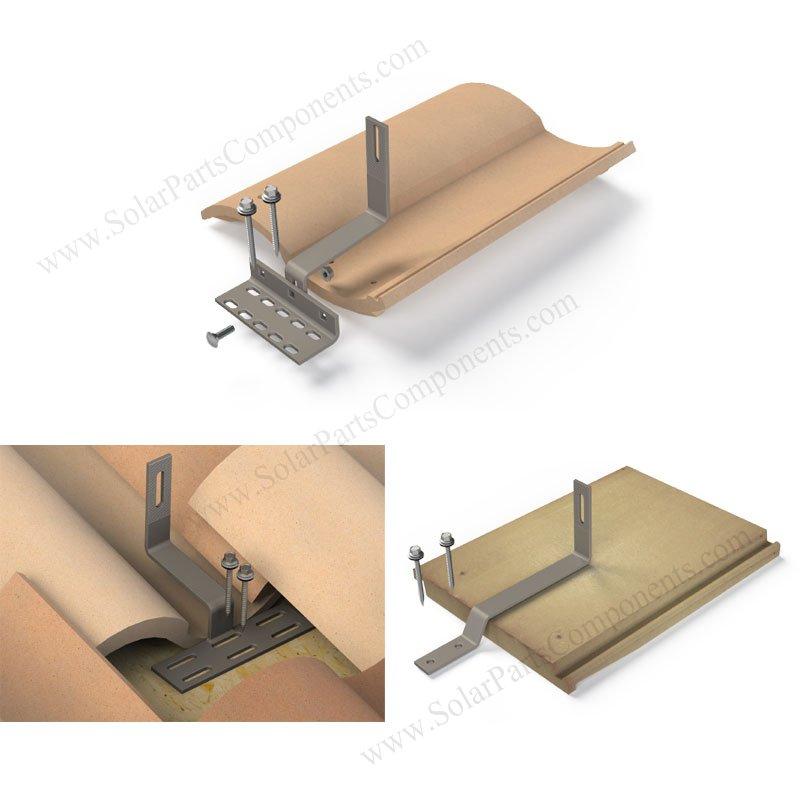 solar panel roof hooks for flat / Spanish / Universal tiles