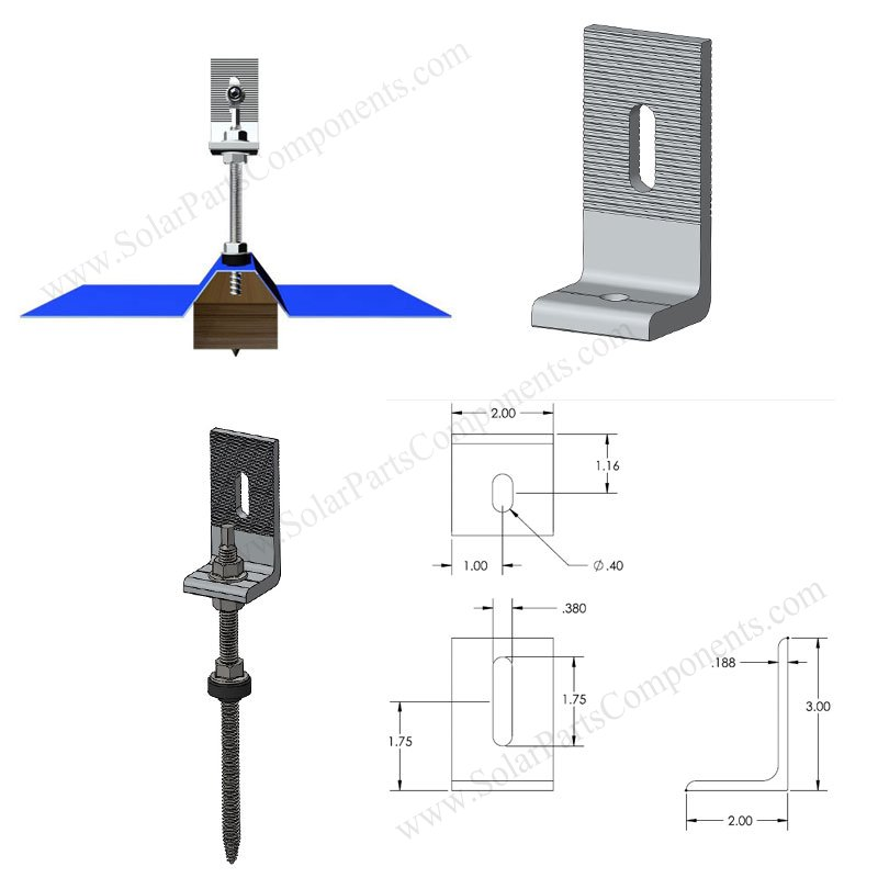 hanger bolts for solar panel installation with L feet bracket