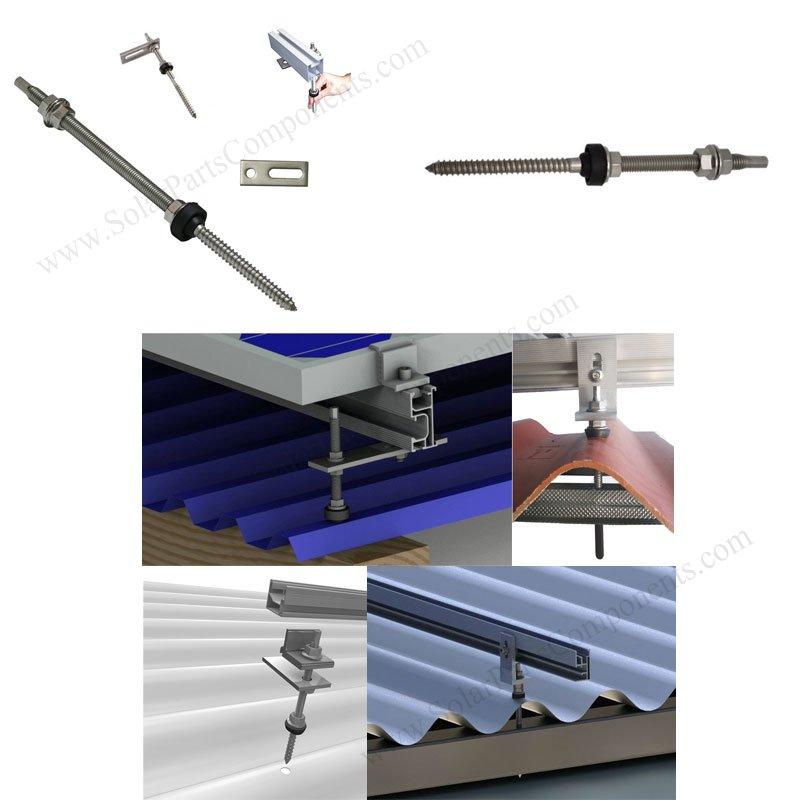 M8 / M10 / M12 hanger bolts for solar panels