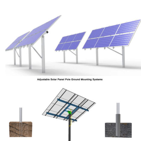 adjustable solar panel pole mounting systems