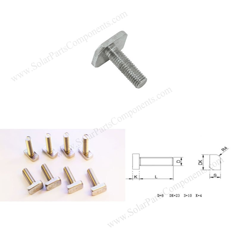 T bolts for solar mounting