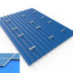 solar metal roofing system U Rail