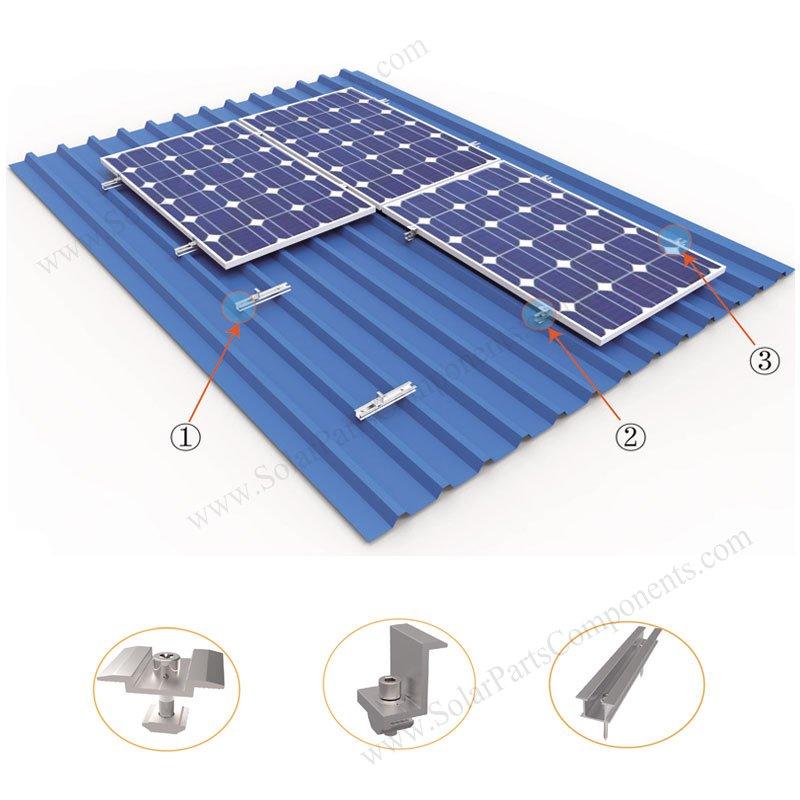 Solar Metal Roof Mounting System, U Aluminum Rail, Cost effective
