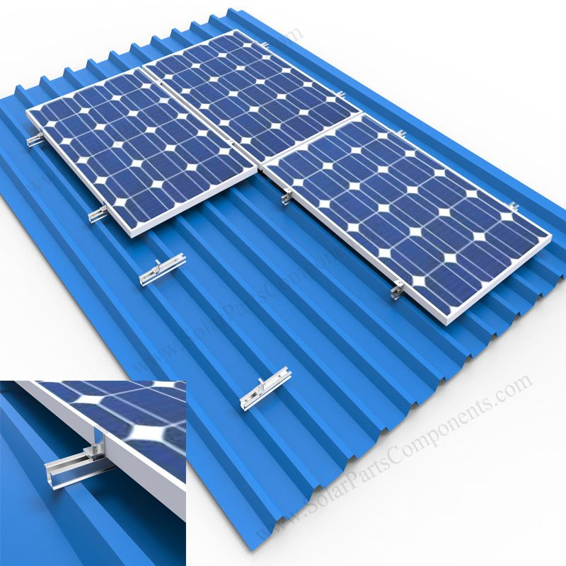 10 Mid Clamp Standing Seam Metal Roof Solar Panel Module Mounting Racking Kits