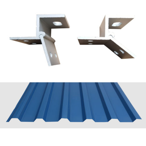 universal trapezoidal metal roof clamp