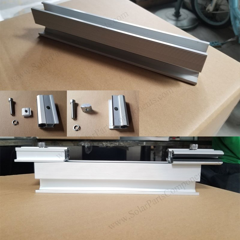 frameless module clamp mounting instruction, side mounted