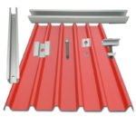 Solar Trapezoid Metal Roofing Rail Brackets Clamp