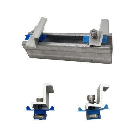 solar end clamps for square steel