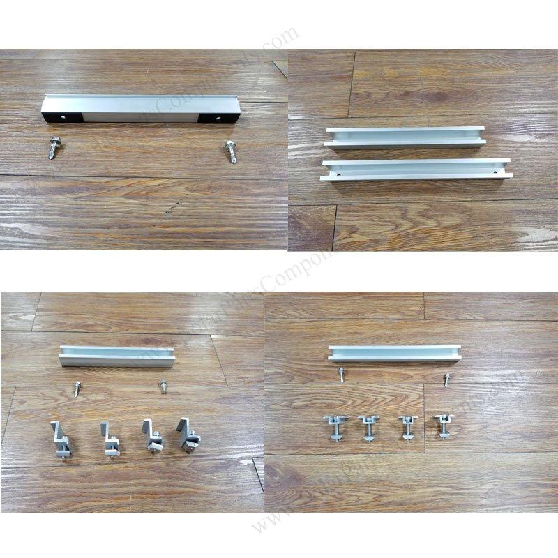 solar metal roof u rail clamp kits