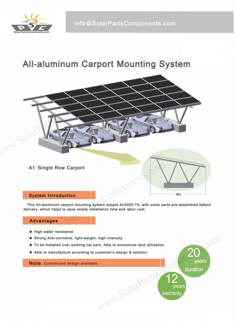 carport solar mounting system solution aluminum