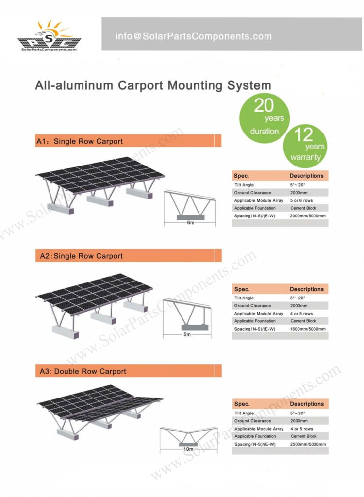 residential / commercial carport solar mounting structure