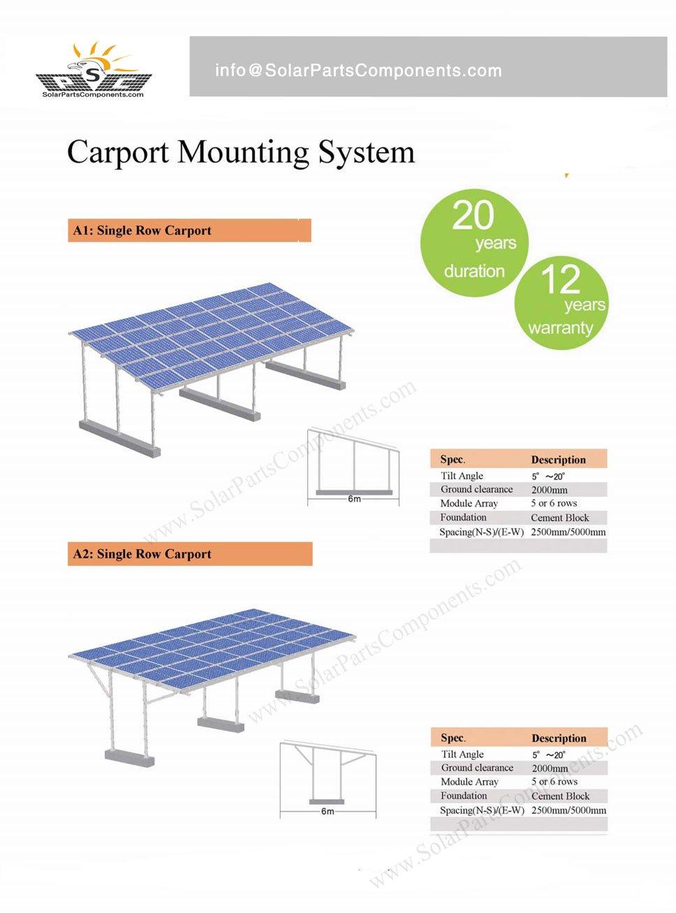 PV module Carport System