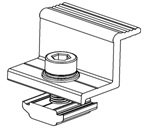 Solar Ballasted Flat Roof Mounting End Clamps