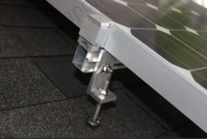 solar panel mounting hanger bolt with L foot