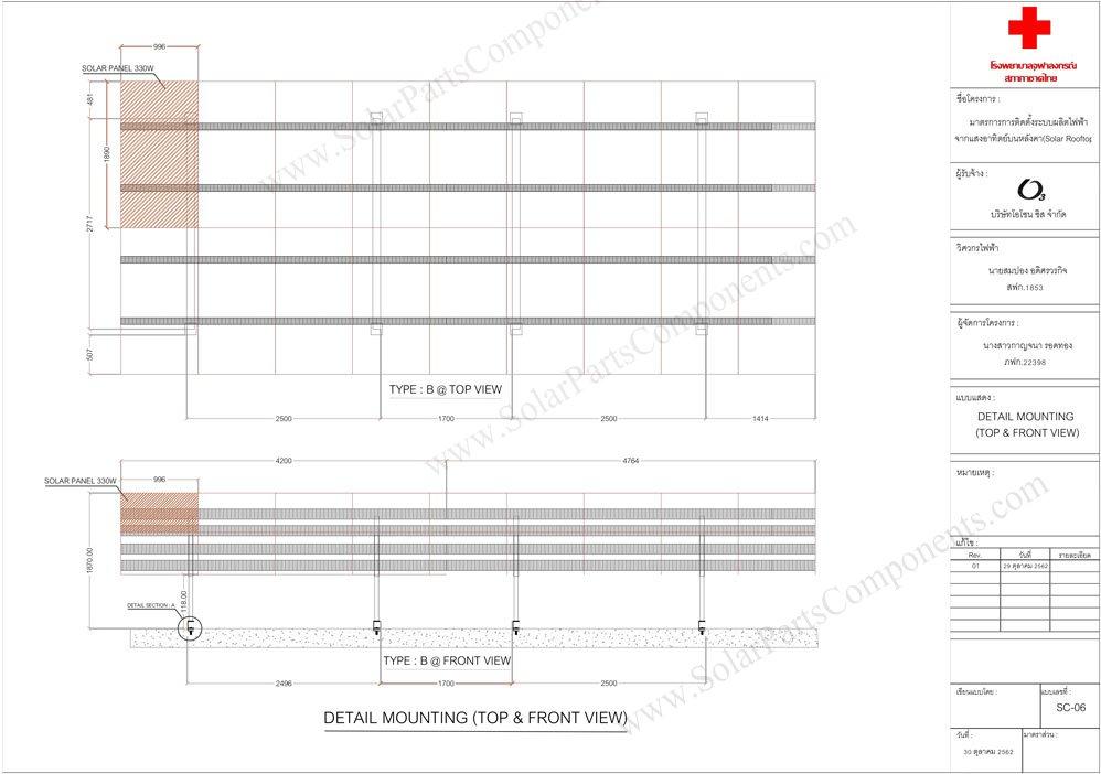 PV module mounting design Thailand