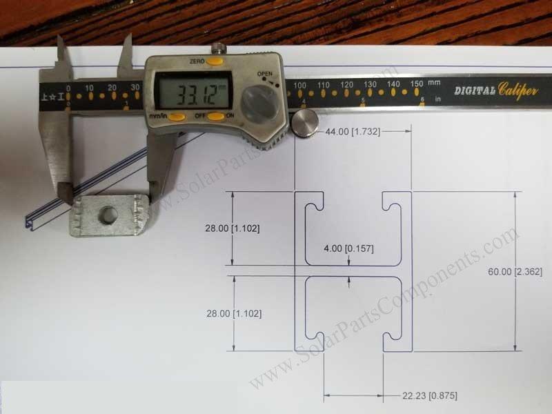 frameless PV module clamp nut