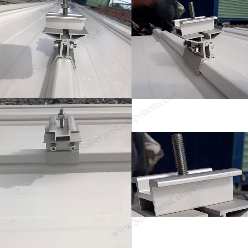 solar metal roof railless clamps