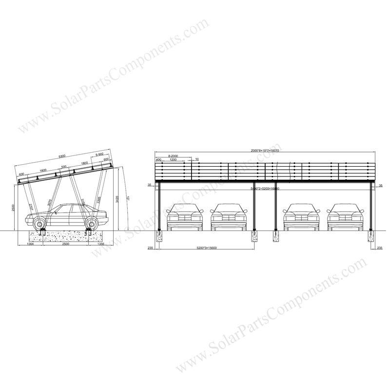 solar carport frame design