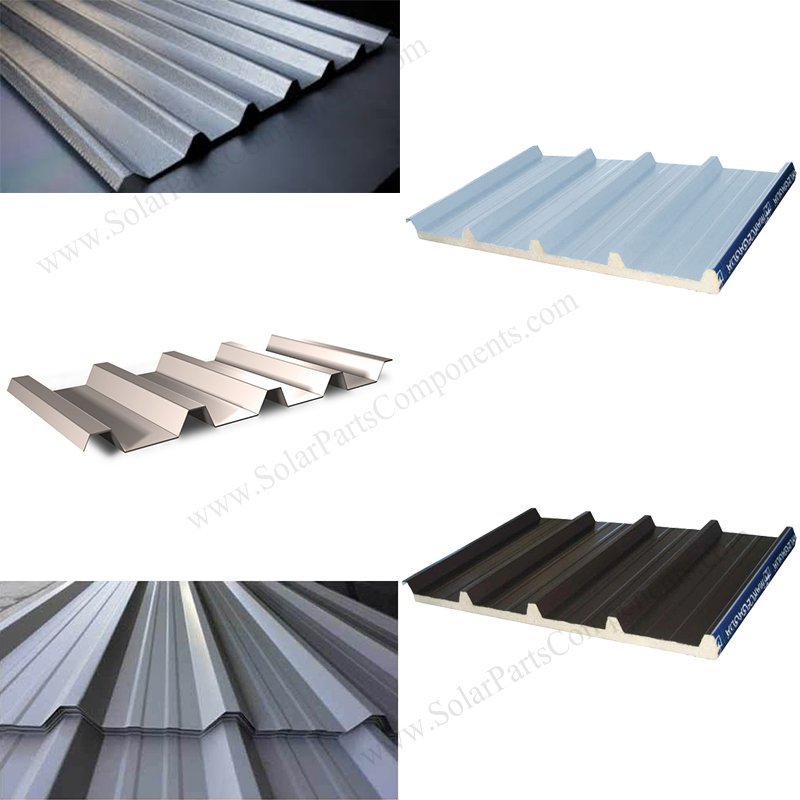 Types of trapezoid metal roof